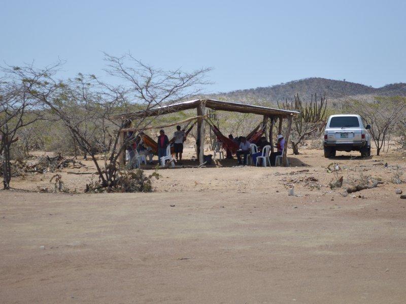Enramada en ranchería Wayuu